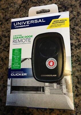 Chamberlain KLIK3U Universal 2-button Garage Door Opener Clicker Remote