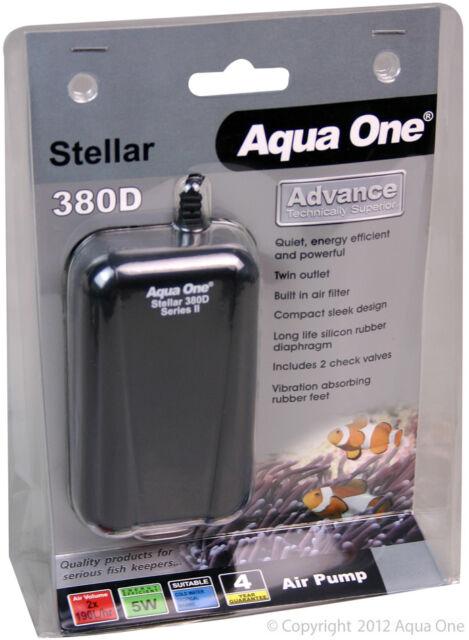 Aqua One A1-94136 Stellar 380D Air Pump 2x190L/h for Aquariums, Marine Tanks