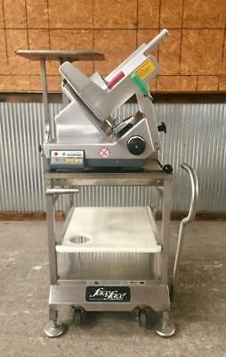 Bizerba Gsp Hd 33 Automatic Slicer Face To Face Mobile Stand Wscale Tray