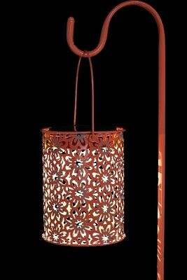 Used, Solar Garden Lantern Punched Metal QVC  for sale  Shipping to South Africa