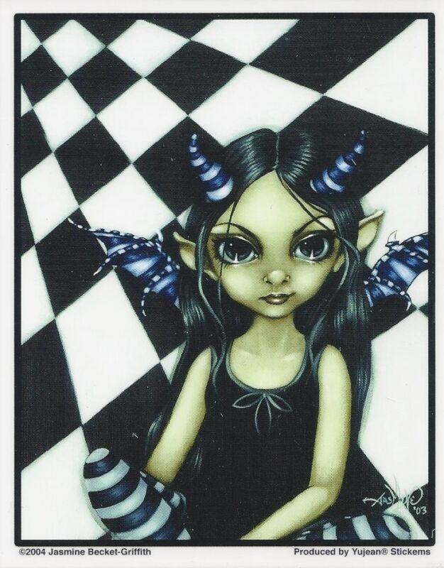 HORNED FAIRY Faery Sticker Car Decal Jasmine Becket-Griffith Strangeling faerie