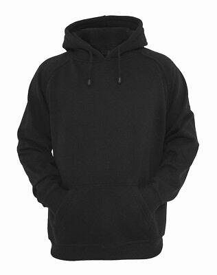 Men's Plain Black Sweatshirt Heavyweight Pullover Hoodies Fleece Cotton Hoodie