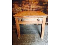 Victorian Pitch Pine Kitchen Dining Serving Table