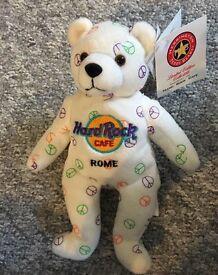 Hard Rock Cafe 'Rome - Peace' Bear - £5