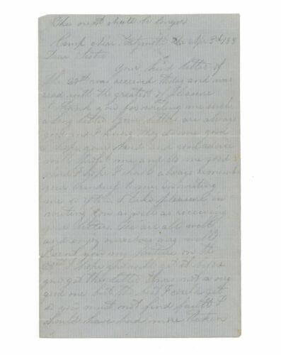 April 1863 Civil War Letter by Corporal Thomas W. Gardner, 14th Connecticut