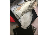 Brand new Quiz silver heels in size 4