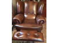 Kendall Three Piece Leather Suite - As New