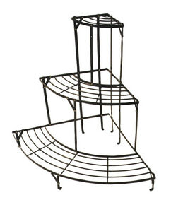 etagere d 39 angle m tal porte plantes metal plante serre veranda fleurs pot semis ebay. Black Bedroom Furniture Sets. Home Design Ideas