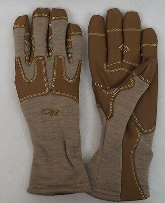 Flame Resistant Gloves - OR FR Swoop Liner Gloves Flame Resistant Fleece Gloves Outdoor Research Tan