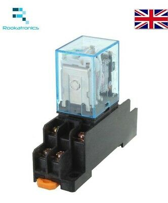 240V AC 8 Pin Relay DPDT with Socket Base Included High Quality 220/240  8 Pin Relay Socket