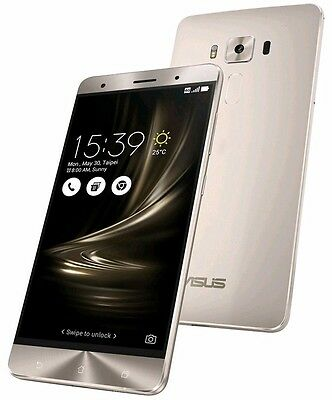 "ASUS ZenFone 3 Deluxe ZS570KL Silver (Factory Unlocked) 64GB 5.7"" HD 6GB RAM"