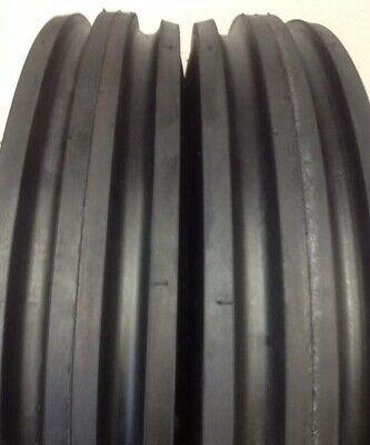 2 600-16 Goodyear Heavy Duty Tractor Tires Tubes 6.00-16 Tri Rib 3 Rib F2