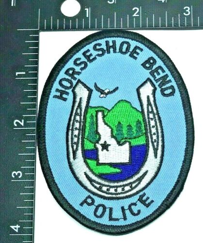 HORSESHOE BEND IDAHO POLICE DEPARTMENT PATCH (PD 6) SHOULDER INSIGNIA