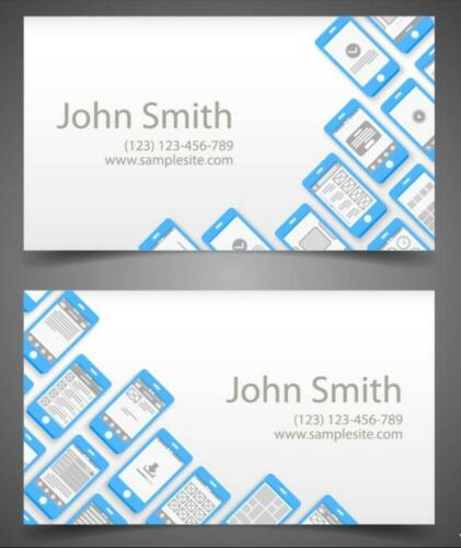 Regular Business Name Cards Both Sides Full Color Design With Template 24 Hours