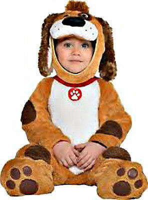 New in Pkg! Playful Brown and White Puppy Infant Costume - Sz 0-6 Months