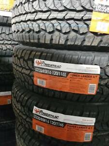 LT235/85R16 BRAND NEW SET ALL SEASON TERRAIN TIRES 10 PLY POWERTRAC 235/85R16 WHEELS 235 85 16 LT
