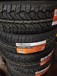 245/75R16 BRAND NEW SET ALL SEASON TERRAIN TIRES POWERTRAC 245/75/R16 WHEELS 245 75 16 LT 10 PLIS PLY