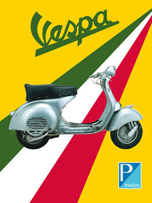 Italian Motor Scooter Vespa Vintage Advertisement Giclee Canvas Print 30x40