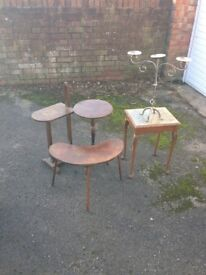 £10 Each 'Small Tables, Plant Stands and Candle Holder'