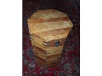 Octagonal wooden trunk / chest / table