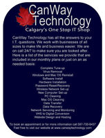 CanWay Technology can fix anything PC or Mac for cheap
