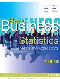 Basic Business Statistics: Concepts and Applications 4th 4E Sydney City Inner Sydney Preview