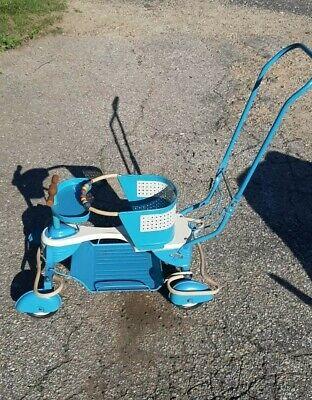 Vintage Taylor Tot Blue Baby Stroller Walker  All Original ~ With Fenders X-Cond