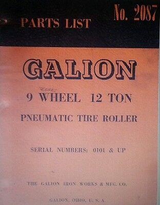 Gallion 9 Wheel 12 Ton Pneumatic Tire Roller Parts Manual 92p Tyred Asphalt Road