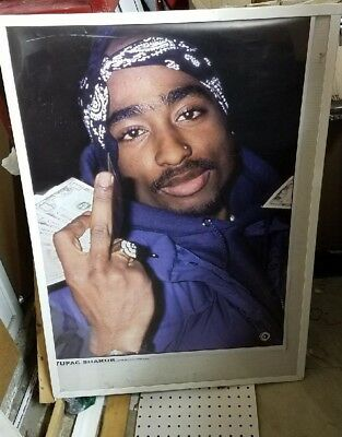 Tupac Shakur 2 Pac Sealed New  Rap Hip Hop Rare Sealed  Poster  Mid 2000S