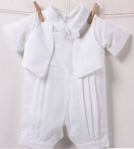 Baby Infant Boys Christening Prop Cute Romper Gentlemen Suits Wedding Outfits
