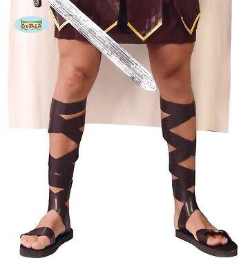 römische Schuhe Sandalen Römer für Herren Karneval Fasching Antik Gladiator Rom