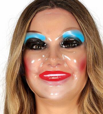 Purge Kostüme (The Purge Plastik Durchsichtig Weiblich Gesichtsmaske Halloween Kostüm Horror)
