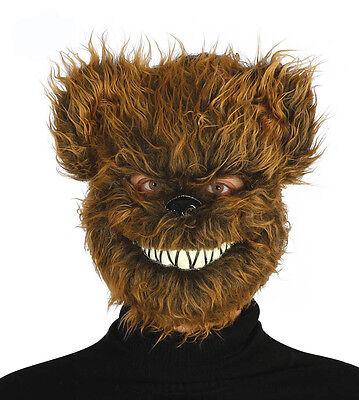 Unheimlich Killer Teddybär Maske Pelzig Halloween Kostüm Maske Neu