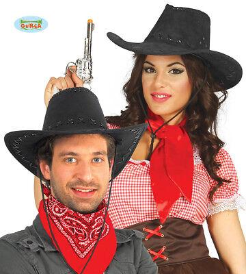 GUIRCA Cappello cowboy cowgirl western carnevale uomo donna adulto mod. 13068
