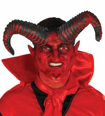 Groß Leicht Teufel Dämon Hörner Halloween Satan Kostüm 20cm - Dämon Kostüm Hörner