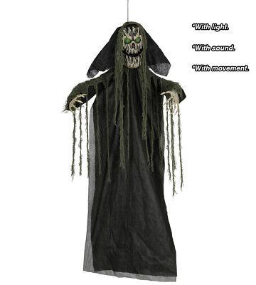 Halloween Hängedekoration Ghul Requisit Hell & Ton 190CM - Halloween Dekoration Animatronics