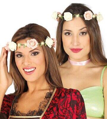Damen Leuchtend Haarreif mit Rosa Blume Fest 1960er Jahre Haarband - Mit Rosa Haaren Kostüm