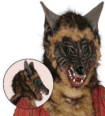 Adulto Hombres Miedo Máscara de Lobo Mujer Disfraz Halloween - Hombre Lobo Para Halloween