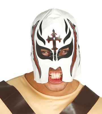 Maschera wrestling bianca in vinile