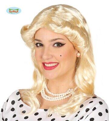 blonde 70er Jahre Locken Perücke für Damen Karneval 1970 Damen Star edel Damen F