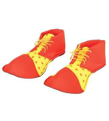 Copri scarpe rosso e giallo clown pagliaccio