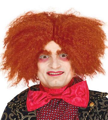 Mad Hatter Wig Orange Ginger Alice in Wonderland Fancy Dress Costume Hair - Orange Mad Hatter Kostüm