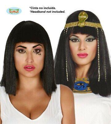 Schwarze Kleopatra Perücke Karnevals Zubehör für Damen Ägypten - Ägyptische Perücken
