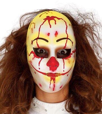 Clown Maske Kostüm Verkleidung Zubehör Gesichtsmaske (Clown Kostüm Zubehör Erwachsene)