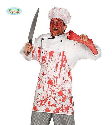 1 SCHÜRZE FLEISCHER BLUTOPTIK HALLOWEEN KOSTÜM ZUBEHÖR DEKO - Fleisch Kostüm Halloween