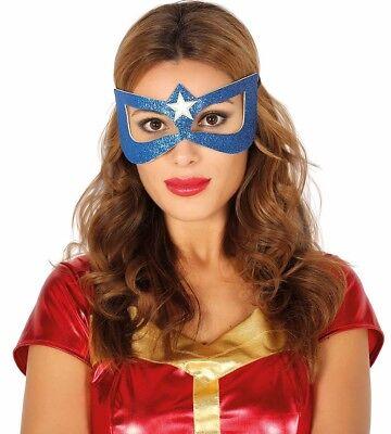 Miss America Maske Cosplay Augen Maske Superheld Kostüm Halloween Kapitän USA