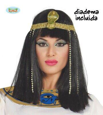 Ägypterin Damen Perücke mit Kopfschmuck Ägypten Karneval Fasching - Ägyptische Perücken