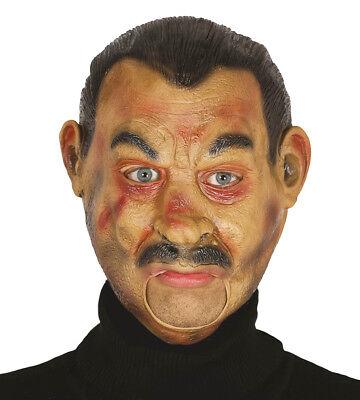 Realistische Man Maske Offen Mund Halloween Vampir Kostüm Essen Trinken Reden