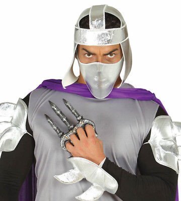 Shredder Style Claw Claws Adult Hand Blades Weapon Fancy Dress Costume - Shredder Costumes