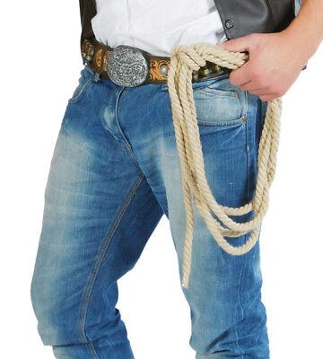 Erwachsene Cowboy Seil Lasso Kostüm Verkleidung Zubehör Wilder Westen West